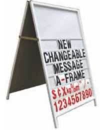 Changeable Message A-Frame 900mm x 1200mm