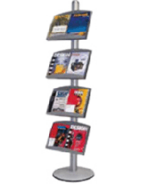 Metal Brochure Holder with 4 Metal Pockets